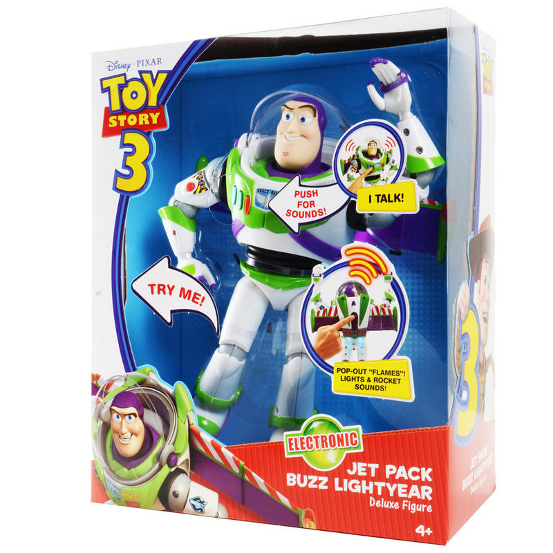 Disney Pixar Toy Story 3 Electronic Jet Pack Buzz Lightyear Deluxe Talking Action Figure With ...