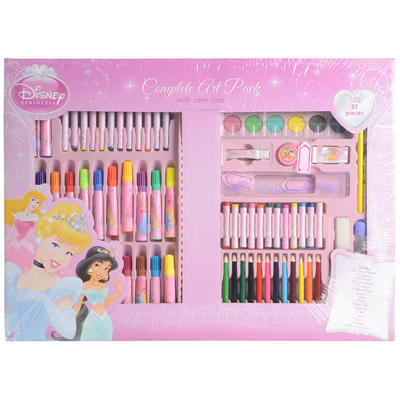 Disney Princess 87 Piece Complete Art Pack Stationery Set With Carry Case