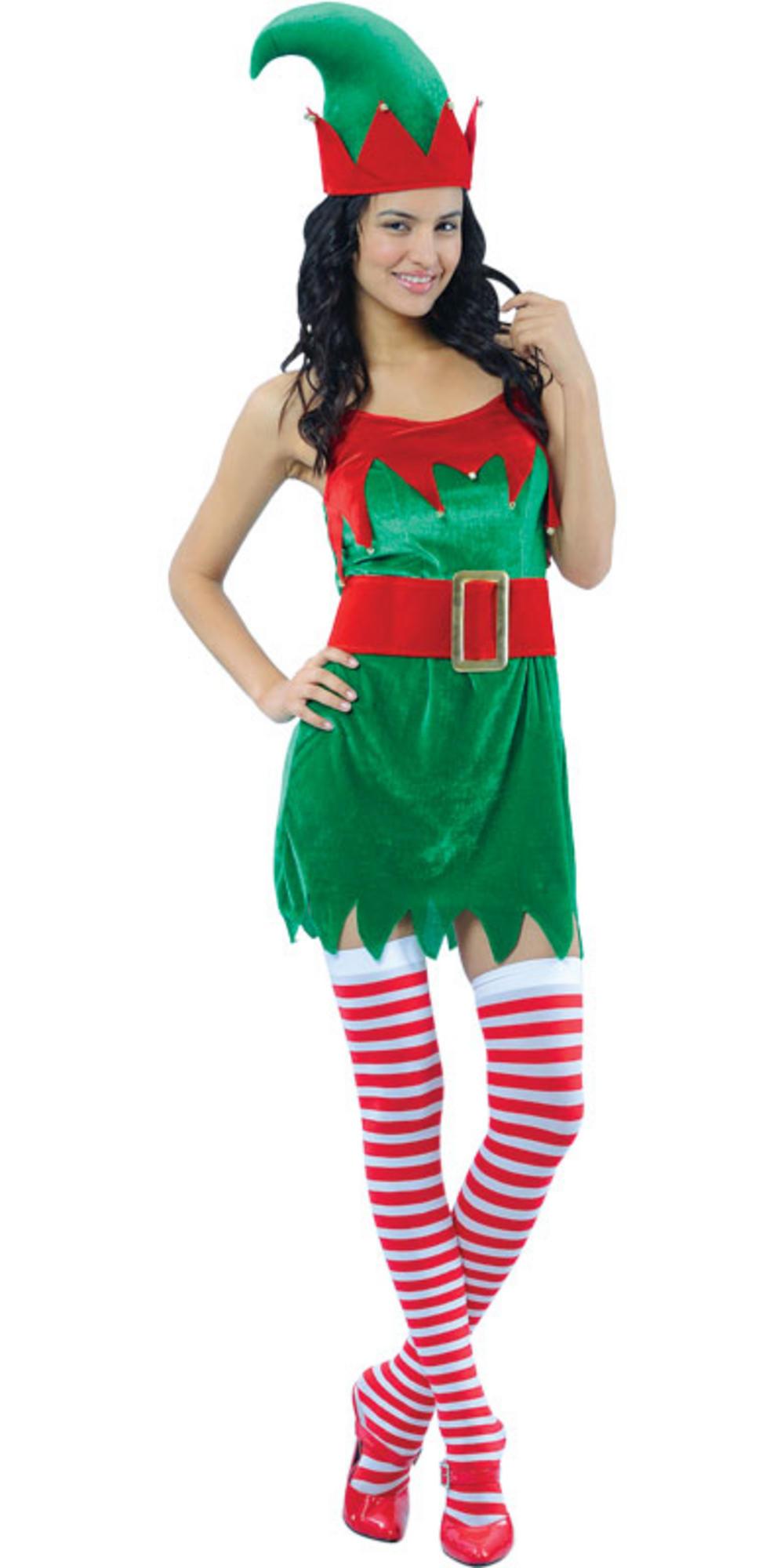 Enchanting elf ladies christmas fancy dress costume