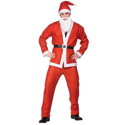 Budget Adult Size Christmas Santa Claus Suit One Size