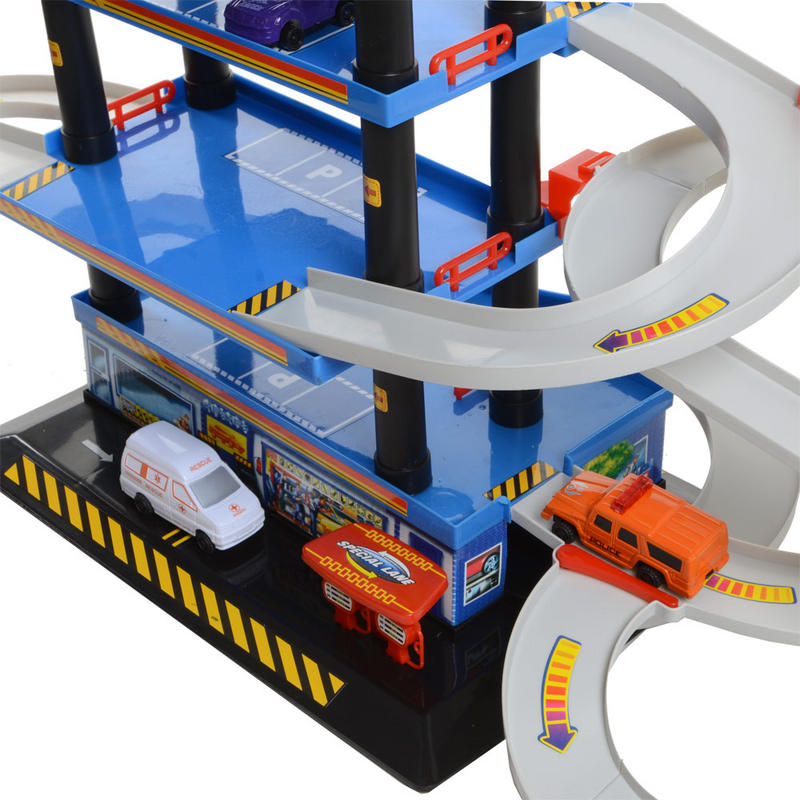 Play Play Multi Storey Toy Fast Car Vehicle Helicopter