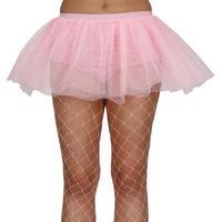 Ladies Baby Pink Tutu Petticoat Skirt Fancy Dress Party Accessory Thumbnail 1