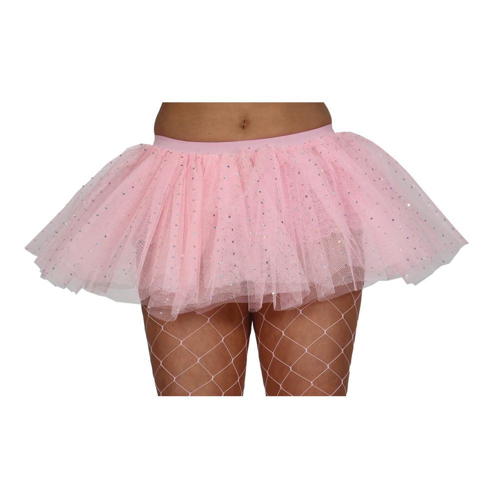 womens baby pink 3 layer sequined tutu skirt fancy dress