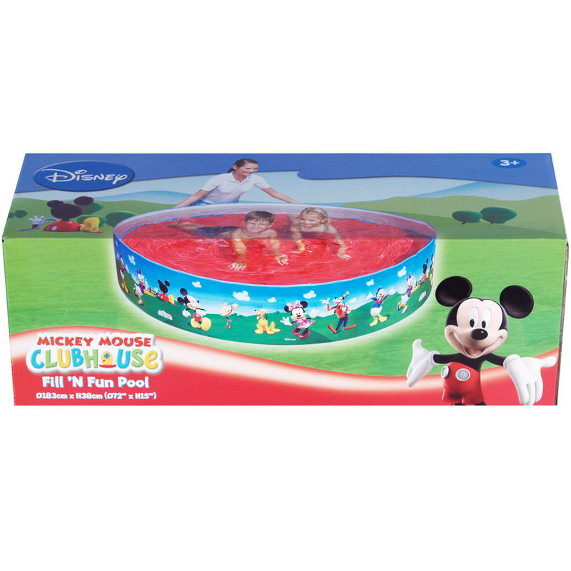 Kids mickey mouse clubhouse fill n fun swim paddling pool for Obi easy pool