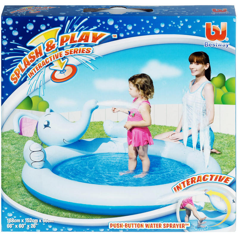 Splash play inflatable interactive elephant water for Garden elephant pool