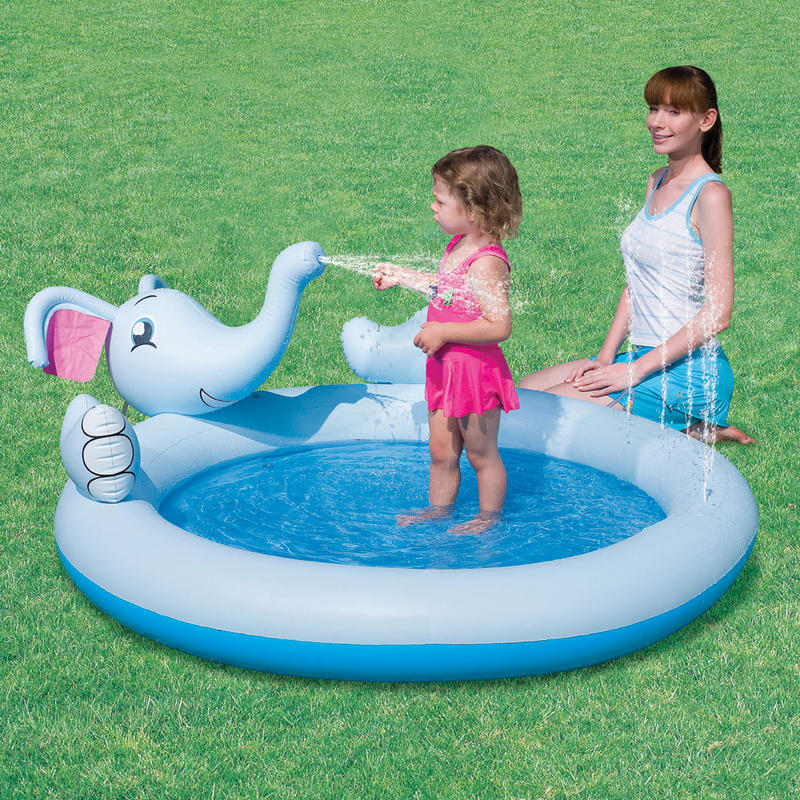 Inflatable Slide Paddling Pool: Splash & Play Inflatable Interactive Elephant Water