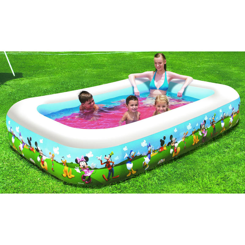 Disney mickey mouse clubhouse inflatable family swimming for Family paddling pool