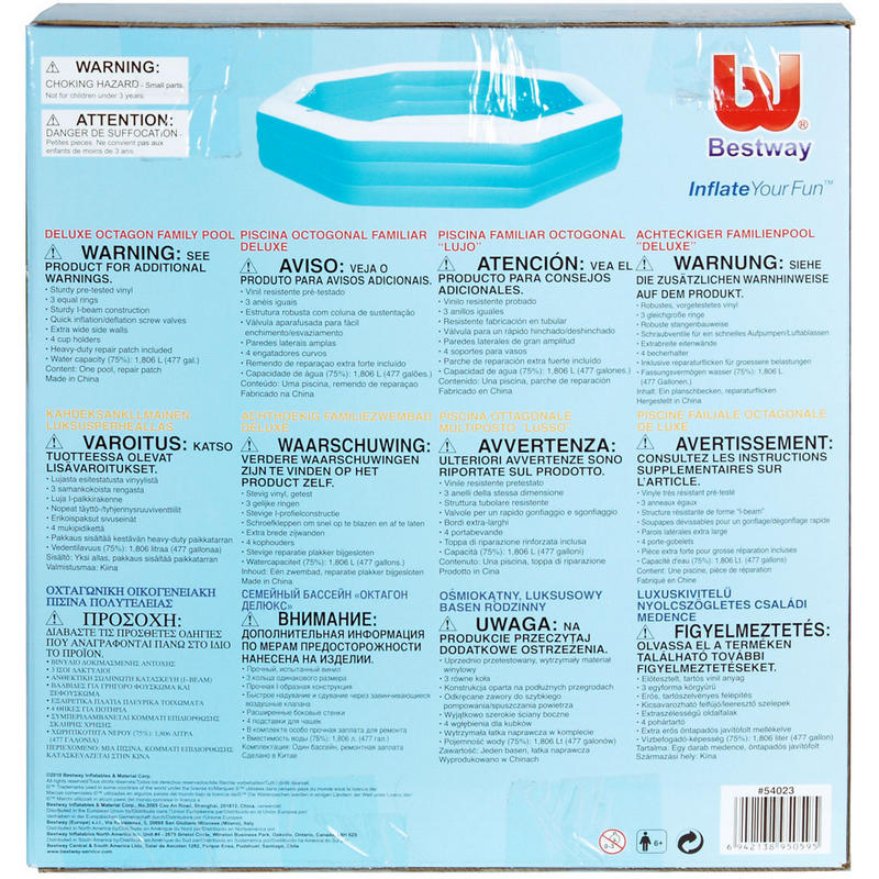 Bestway Deluxe Octagonal Inflatable Family Swimming