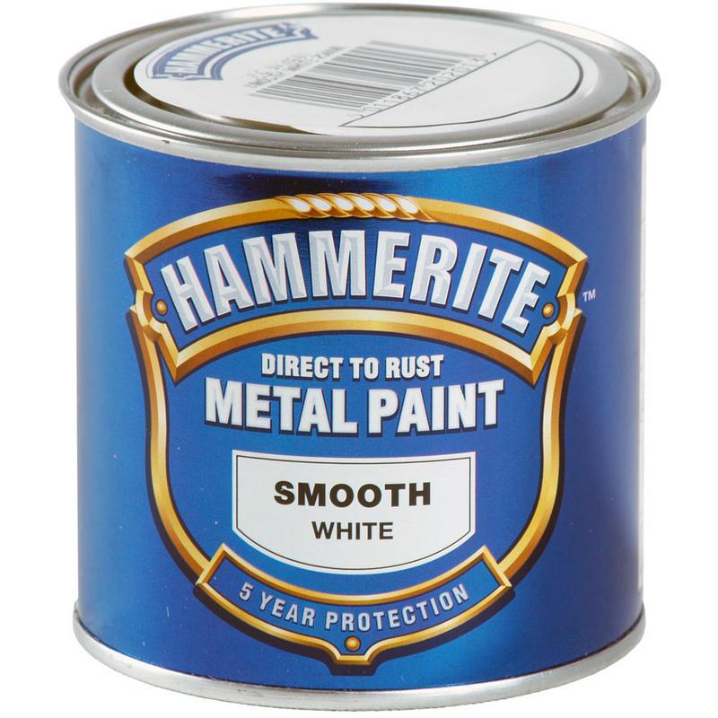 Smooth Metal Paint White Ml