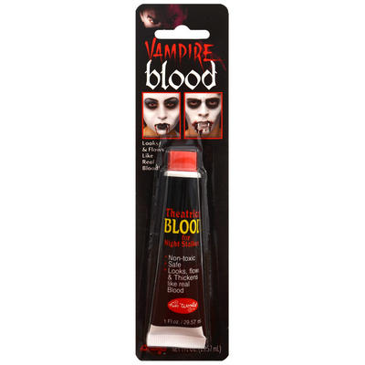 Theatrical Fake Red Vampire Blood Horror Make Up Halloween Costume Party Accessory