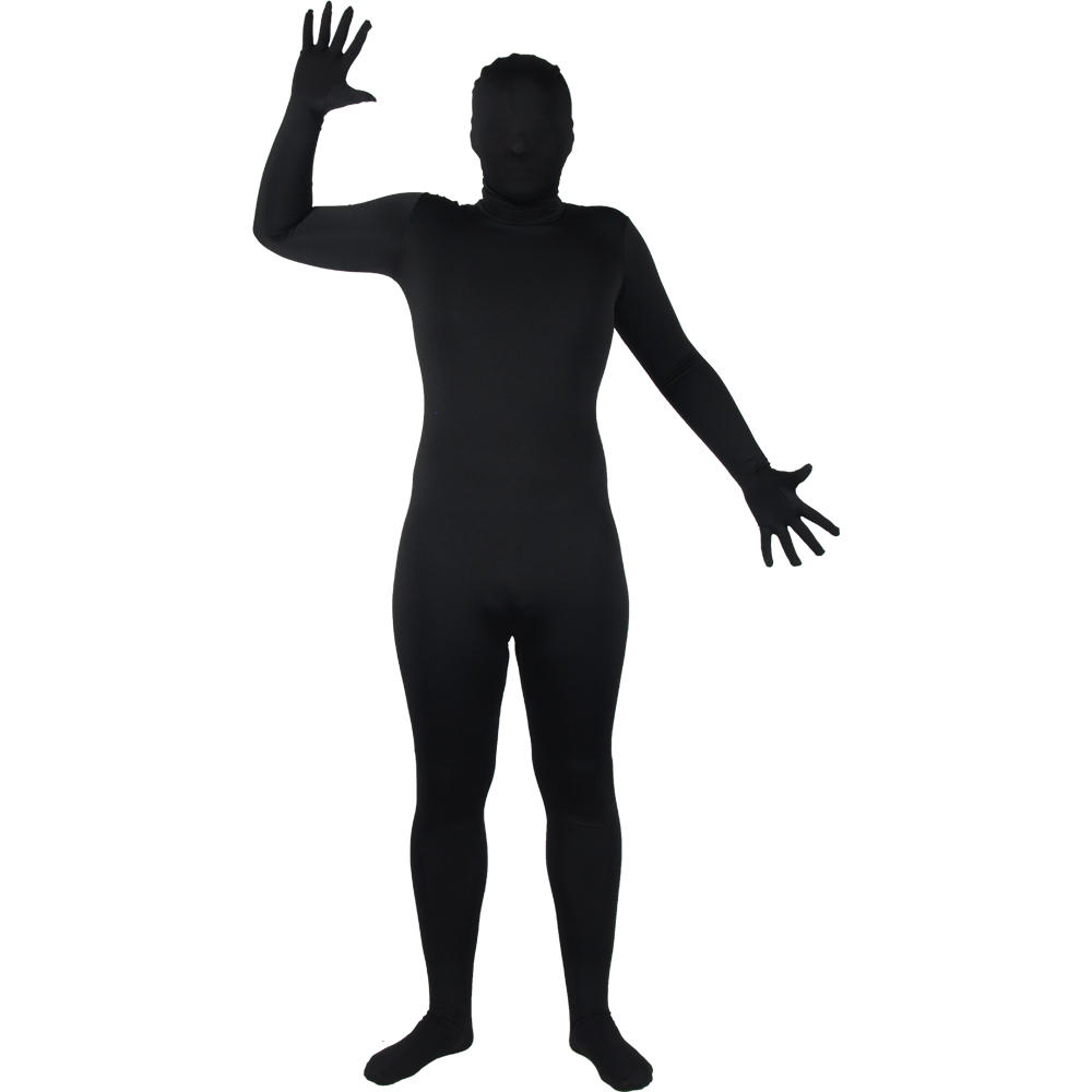 Wicked Costumes SKINZ Lycra Stretchy Spandex Complete Body Sock Skin Tight Suit - Black Preview