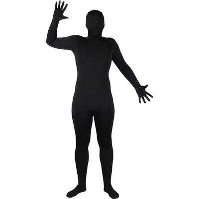 Wicked Costumes SKINZ Lycra Stretchy Spandex Complete Body Sock Skin Tight Suit - Black