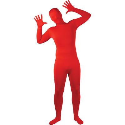 Wicked Costumes SKINZ Lycra Stretchy Spandex Complete Body Sock Skin Tight Suit - Red