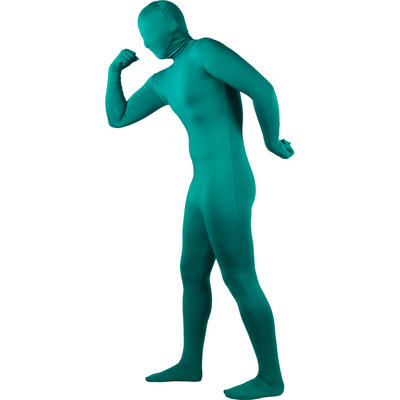 Wicked Costumes SKINZ Lycra Stretchy Spandex Complete Body Sock Skin Tight Suit - Green