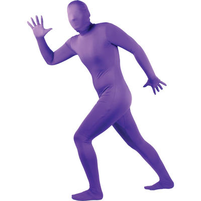 Wicked Costumes SKINZ Lycra Stretchy Spandex Complete Body Sock Skin Tight Suit - Purple