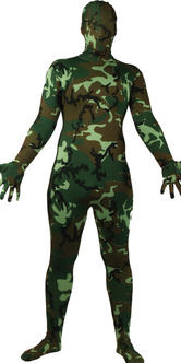 Wicked Costumes SKINZ Lycra Stretchy Spandex Complete Body Sock Skin Tight Suit - Camouflage Thumbnail 2