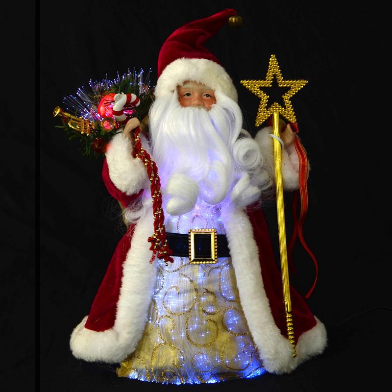 Quot fibre optic festive santa claus light up colour