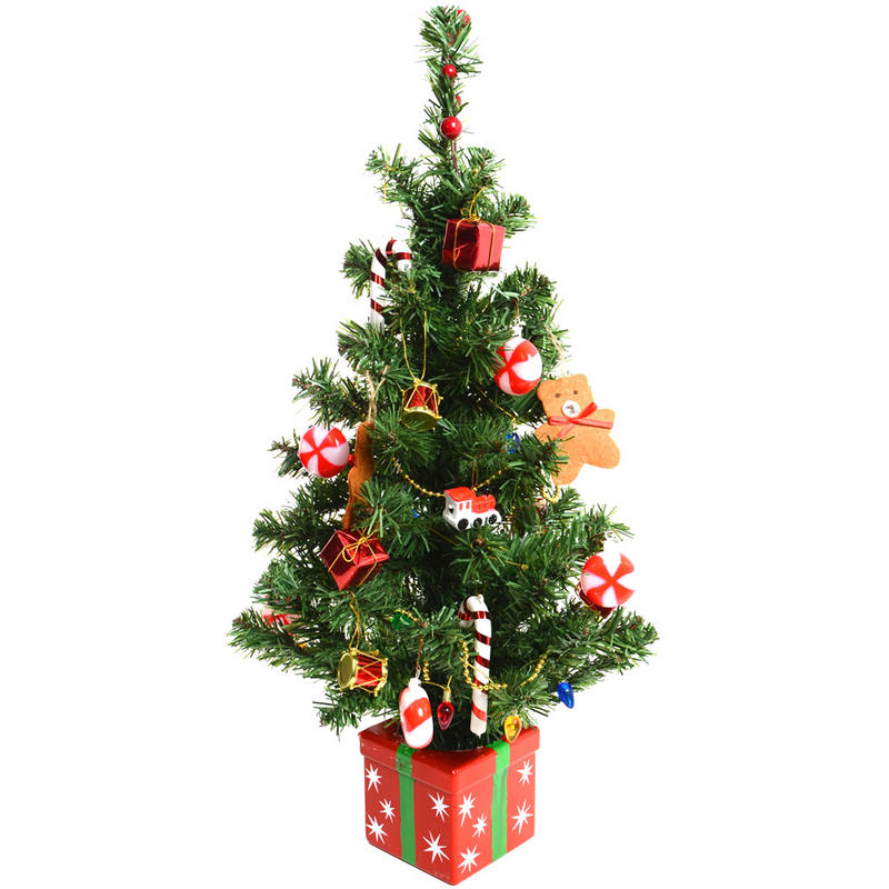 60cm 24 quot artificial desk top table centre piece christmas tree preview