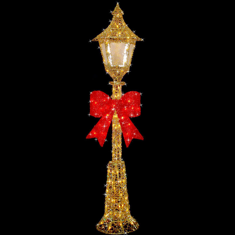 150cm gold wire lamp post indoor outdoor festive decoration for Indoor christmas decorations sale