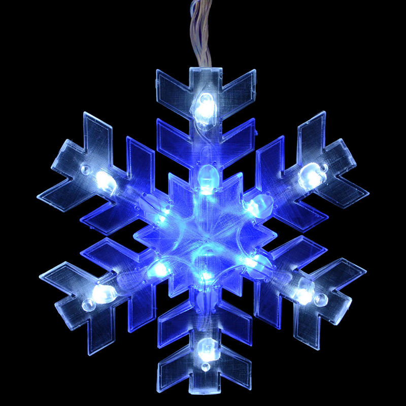 Mains voltage piece snowflake curtain christmas festive