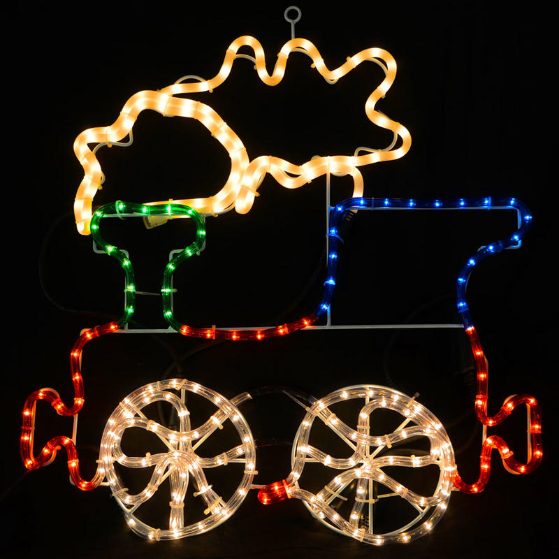 multicoloured led rope light train christmas decoration indoor outdoor