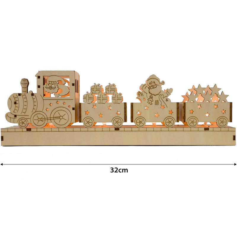 Festive Battery Operated Light UP LED Wooden Train Scene  : lrgXS085120wooden train 1 dimensions from www.xs-stock.co.uk size 800 x 800 jpeg 50kB