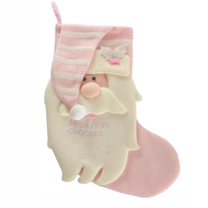 Baby Girl Pink Quot Baby S First Christmas Quot Santa Christmas