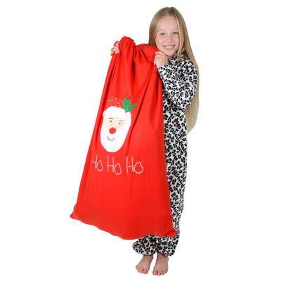 "Giant Red Christmas ""HO HO HO"" Santa Gift Sack  60cm x 100cm"