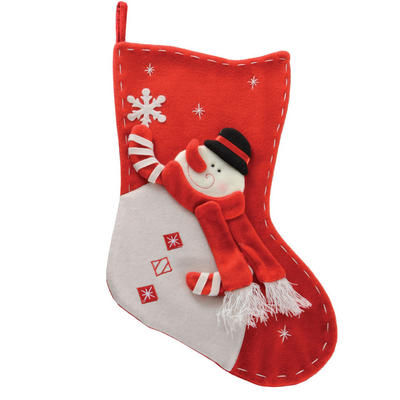 Fantastic 53cm Red & White Snowman Childrens Kids Christmas Xmas Stocking