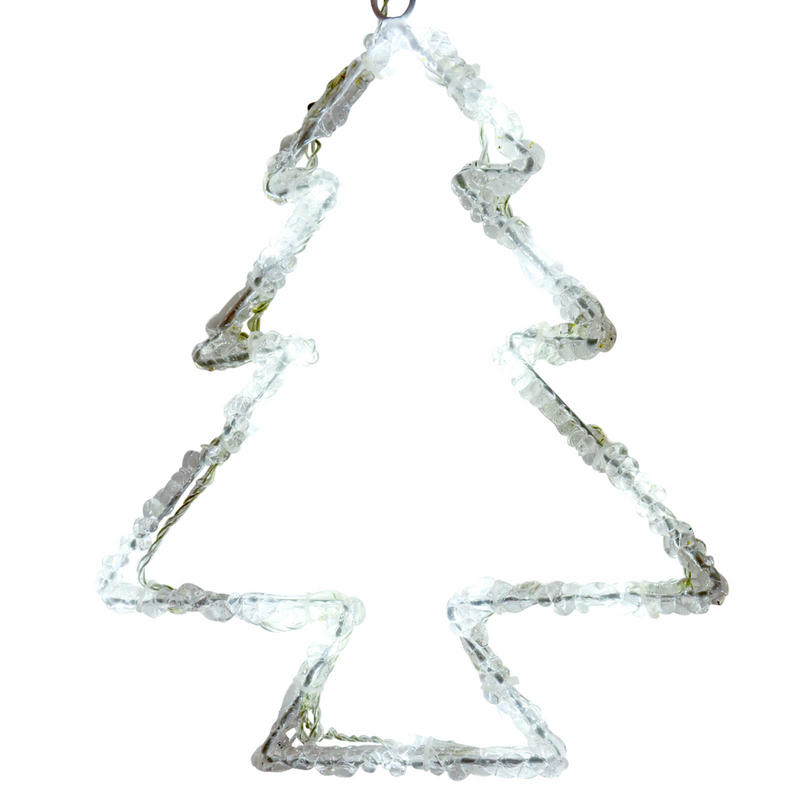 mains operated light up christmas tree silhouette acrylic