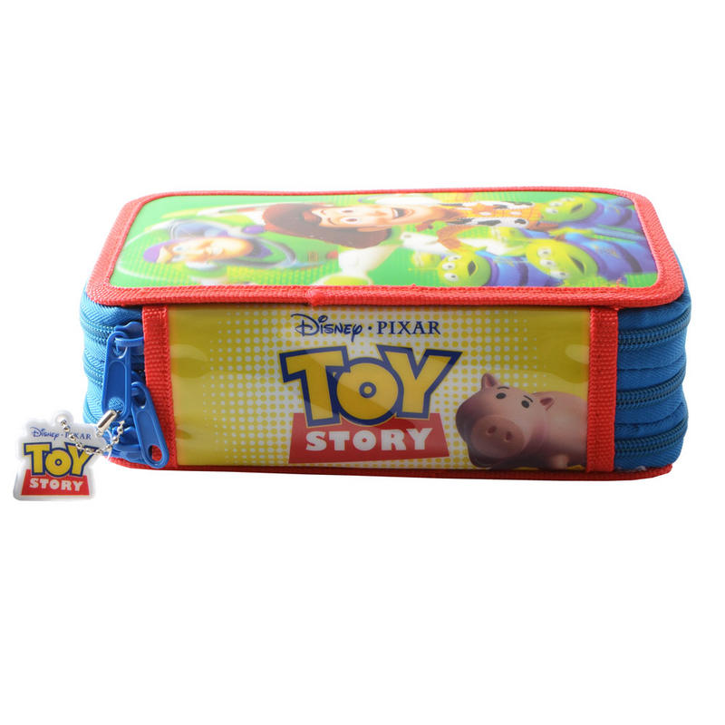 Case Of Toy Story Games : Toy story d holographic triple decker zipped stationery