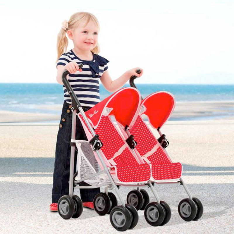 Toys For Twins : Silver cross pop duo twin two seat poppy red kids girls