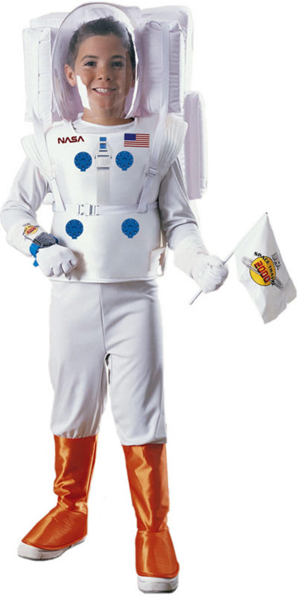 ... Boys NASA Astronaut Space Man Suit Fancy Dress Costume Thumbnail 2