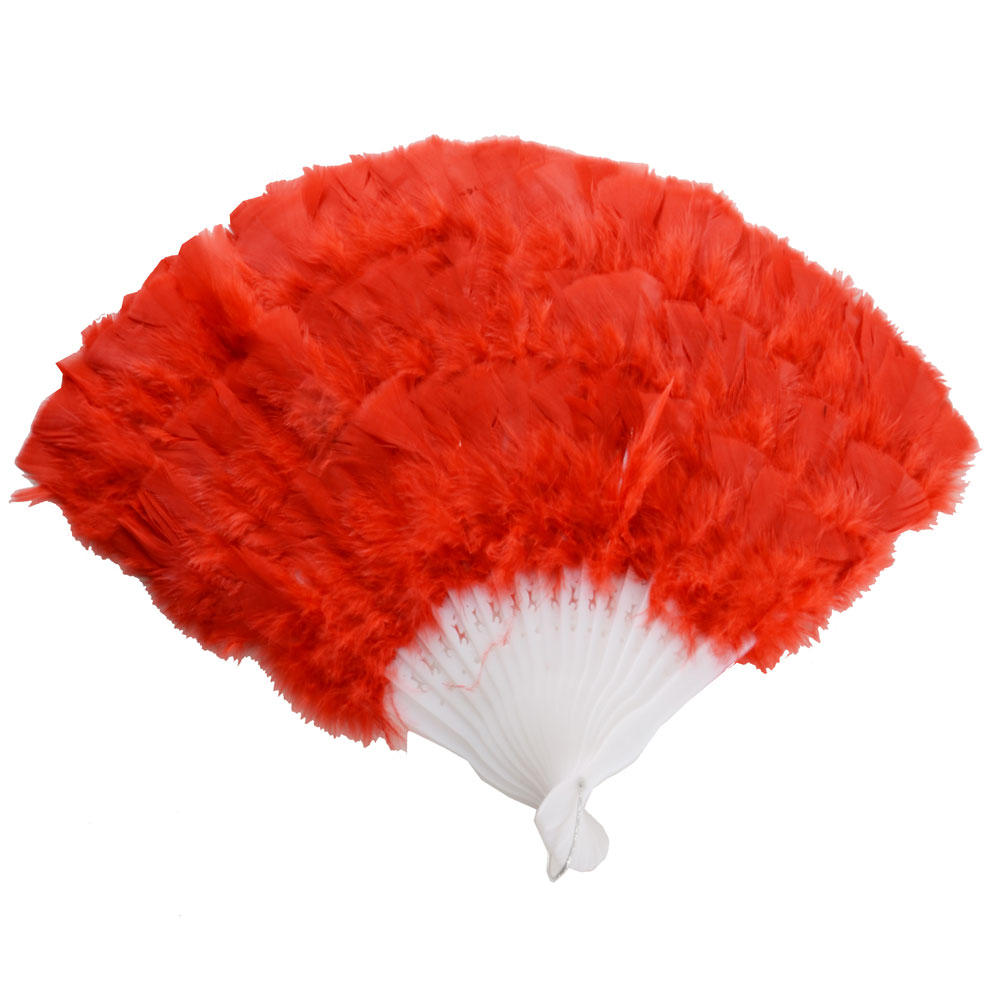 Red Feather Fan Fancy Fancy Dress Accessory