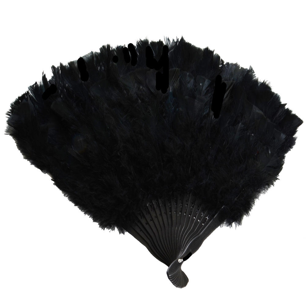 Black Feather Fan Fancy Fancy Dress Accessory