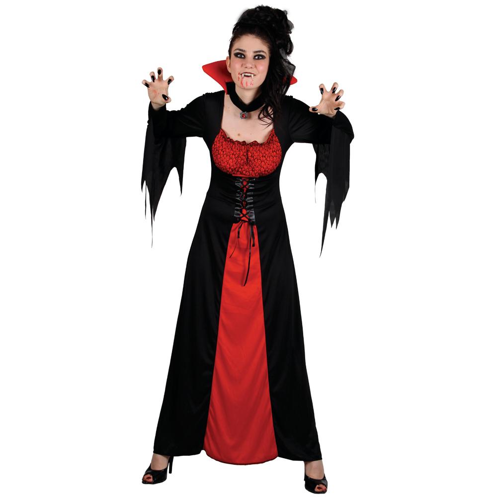 Classic Vampiress Vampire Ladies Fancy Dress Halloween Party ...