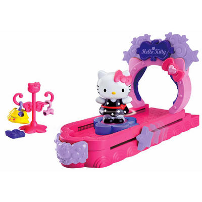 Kids Hello Kitty Fashion Show Pink Runway Catwalk Figure Play Set Age 3+