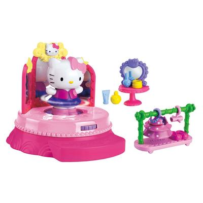 Kids Hello Kitty Fashion Show Pink Stage Figure Play Set Age 3+
