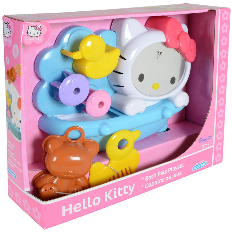 kids hello kitty bath pals bathroom water duck play set age 18 months. Black Bedroom Furniture Sets. Home Design Ideas