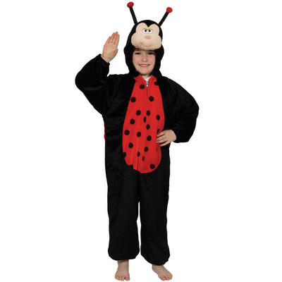 Childrens Adorable One Piece Fun Ladybug Ladybird Bug Fancy Dress Party Costume