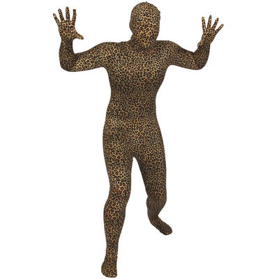 Wicked Costumes SKINZ Lycra Stretchy Spandex Complete Body Sock Skin Tight Suit - Leopard