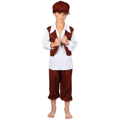 Childrens Chimney Sweep Poor Boy Fancy Dress Up Party Halloween Costume Outfit