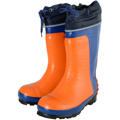 Seconds Orange/Blue Steel Toe Waterproof Safety Work Wellington Boots UK 3 New