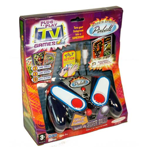 Tv Games Plug Into : Jakks family tv games plug play pinball electronic