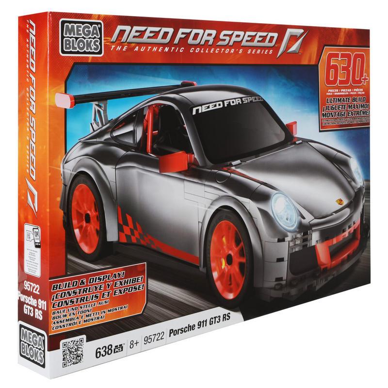 mega bloks need for speed porsche 911 gt3 rs build up 638 piece set 95722