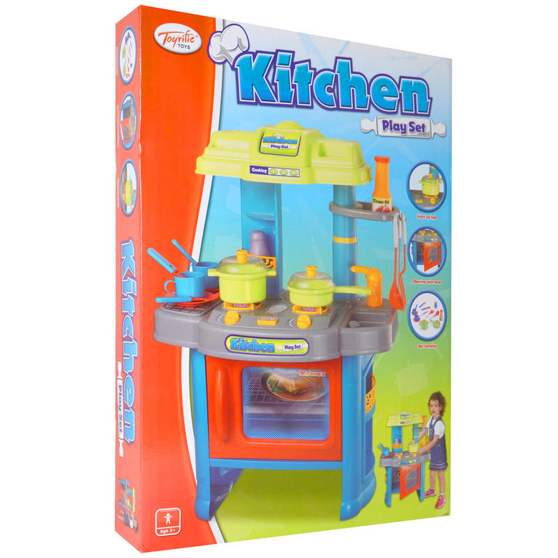 Kitchen Set Lighting: Kitchen Play Set Plastic Cooker With Light Up Hob And
