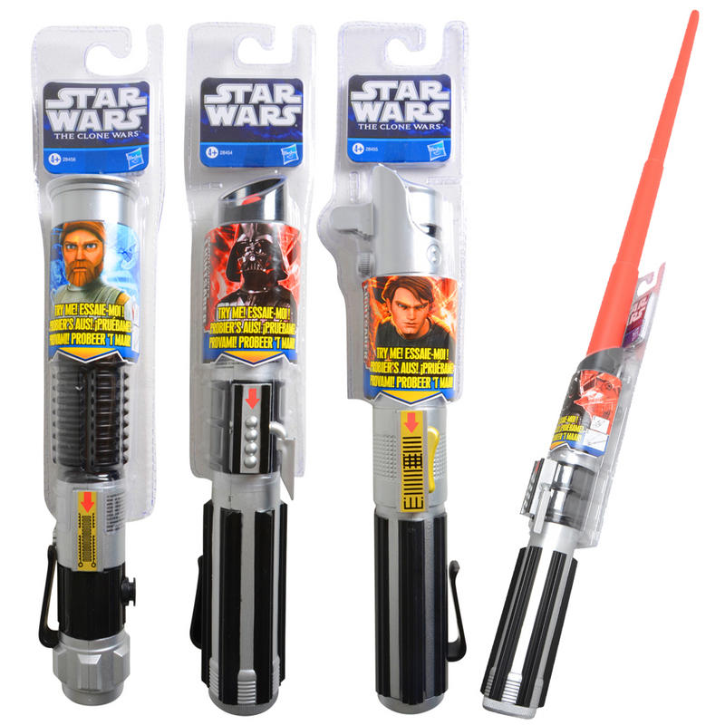 Star Wars Lightsabers Toys : Star wars the clone durable basic extending