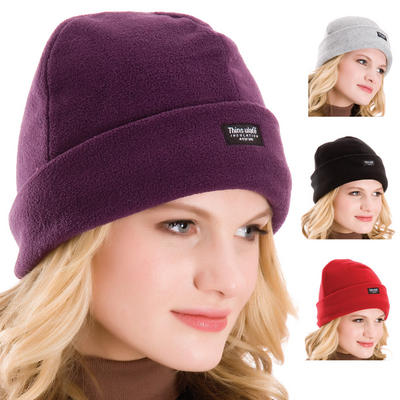 Ladies Fleece Hat With 40 Gram Thinsulate Insulation And Fold Up Brim Winter Activities