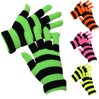 2 x Pairs of Ladies Two Layered Neon Stretch Magic Winter Outdoor Gloves