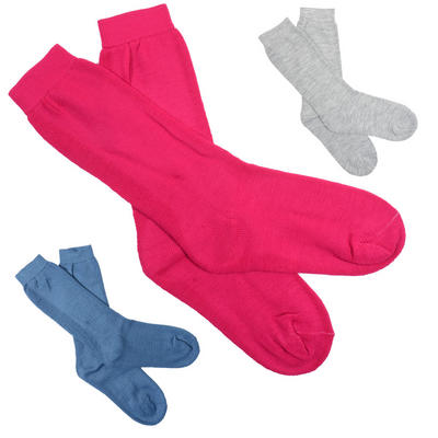 2 Pairs Of The Same Colour Ladies Longer Length Wellie Boot Socks
